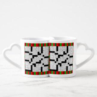 Conception de jeu de mots croisé sur l'ensemble de mug