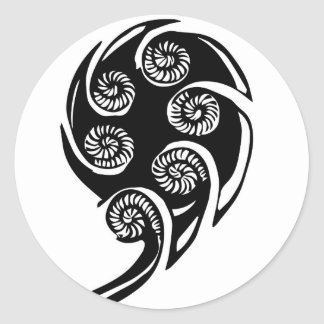 conception de koru d'aotearoa sticker rond