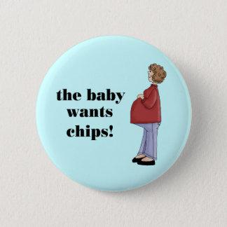 Conception de maternité drôle badge rond 5 cm