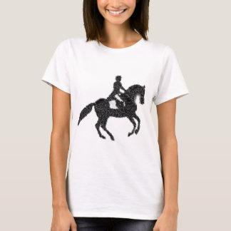 Conception de mosaïque de cheval et de cavalier de t-shirt
