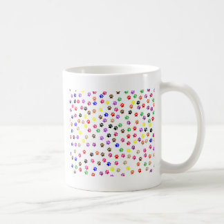 Conception de motif d'empreintes de pattes mug