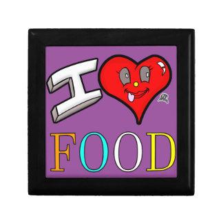 Conception de nourriture d'amour des fins gourmets boîte à babioles