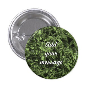 Conception de papier d'aluminium en vert de mousse badge rond 2,50 cm