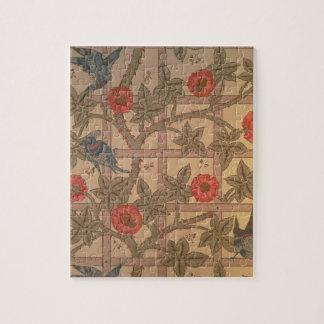 """Conception de papier peint de """"treillis"""", 1864 puzzle"""