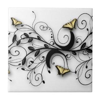 Conception de papillon de machaon petit carreau carré