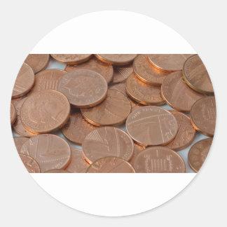 conception de penny adhésif rond