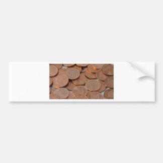 conception de penny autocollant de voiture
