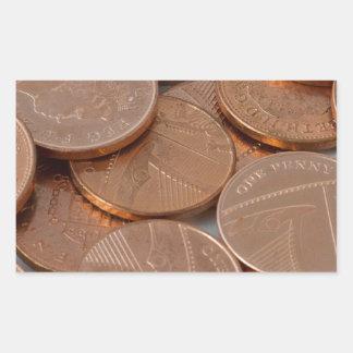 conception de penny sticker rectangulaire