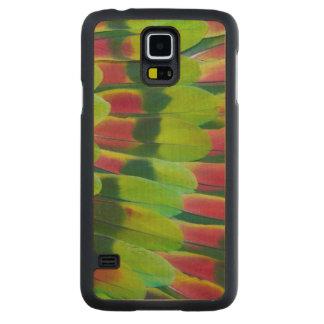 Conception de plume de vert de perroquet d'Amazone Coque Mince En Érable Galaxy S5