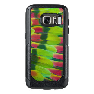 Conception de plume de vert de perroquet d'Amazone Coque OtterBox Samsung Galaxy S7