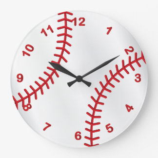 Conception de sport de base-ball grande horloge ronde