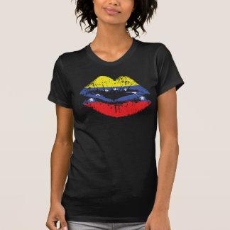 Conception de T-shirt de lèvres du Venezuela pour