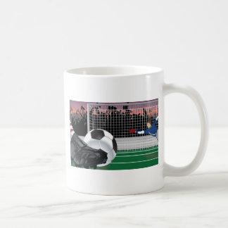 Conception de vecteur du football mug blanc