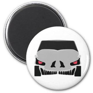 Conception de voiture de Skulled Magnet Rond 8 Cm