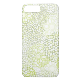 Conception d'éclat de fleur de vert de pois et coque iPhone 7 plus