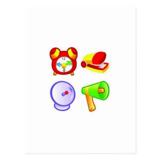 Conception d'icônes d'affaires de bureau carte postale
