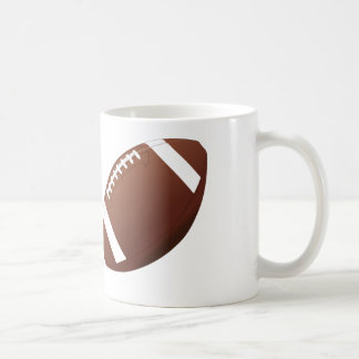 Conception du football - tasse de café blanc