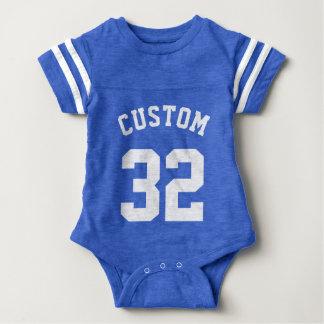 Conception du Jersey de sports du bébé | de bleu Body