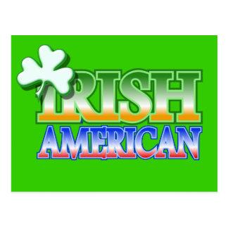 Conception du shamrock de St Patrick irlandais Carte Postale