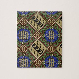 Conception ecclésiastique de papier peint d'impres puzzle