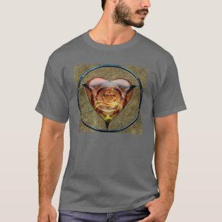 Conception en forme de coeur t-shirt