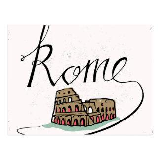 Conception en lettres de main de Rome Carte Postale