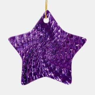 Conception en verre crépitée de remous - améthyste ornement étoile en céramique