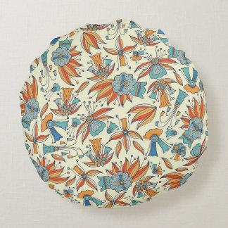 Conception florale abstraite de motif coussins ronds