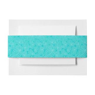 Conception florale bleue de Paisley d'Aqua Bandeau De Faire-part