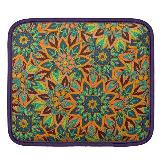 Conception florale de motif d'abrégé sur mandala housse pour iPad