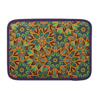 Conception florale de motif d'abrégé sur mandala housse pour macbook air