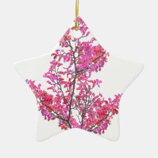 Conception florale mignonne colorée ornement étoile en céramique