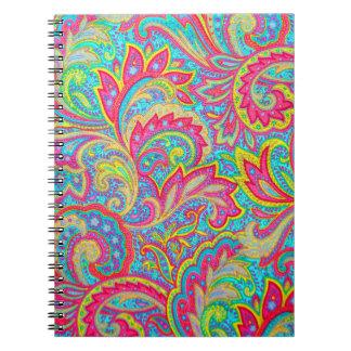 Conception florale vintage colorée mignonne carnets