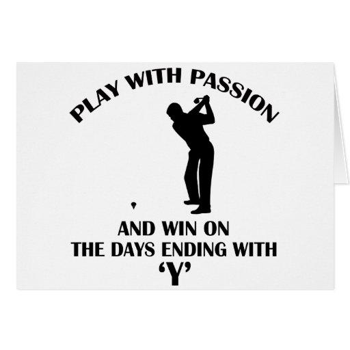conception fraîche de joueur de golfeur cartes de vœux