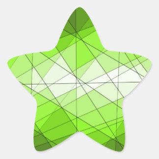 Conception géométrique de diamant de pierre gemme sticker étoile
