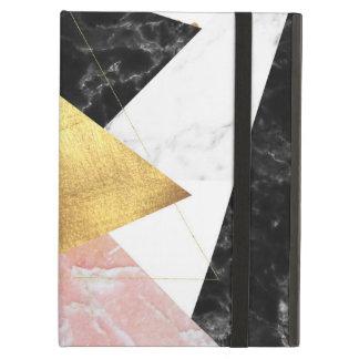 Conception géométrique élégante de marbre et d'or