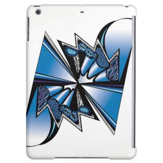 Conception graphique bleue sur le coque ipad