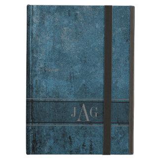 Conception grunge rustique de livre bleu coque iPad air