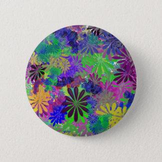 Conception hippie de flower power badge rond 5 cm
