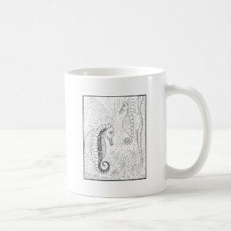 Conception hippocampes de schéma mug