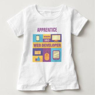 Conception iconique de développeur web barboteuse
