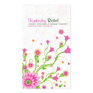 Conception-Lumière florale abstraite de rose et de Modèles De Cartes De Visite
