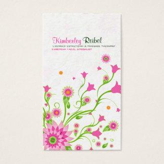 Conception-Lumière florale abstraite de rose et de Cartes De Visite