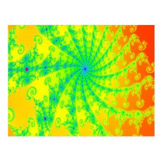 Conception lumineuse de fantaisie de fractale carte postale