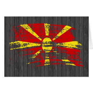 Conception macédonienne fraîche de drapeau carte