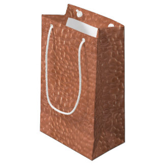 Conception martelée de cuivre-regard petit sac cadeau