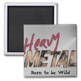 Conception métallique de métaux lourds magnet carré