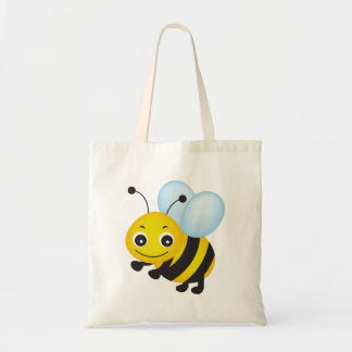 Conception mignonne d'abeille tote bag