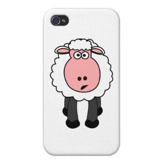 Conception mignonne de moutons coques iPhone 4