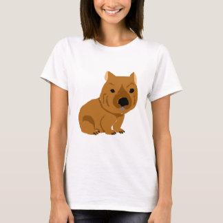 Conception mignonne de wombat de bébé t-shirt